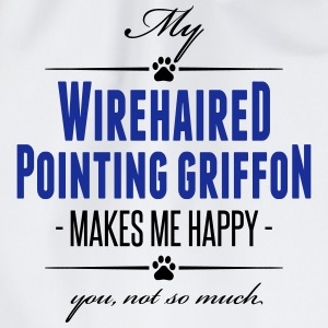 My Wirehaired Pointing Griffon makes me happy - Turnbeutel