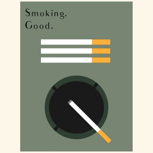 Smoking. Good. - Turnbeutel
