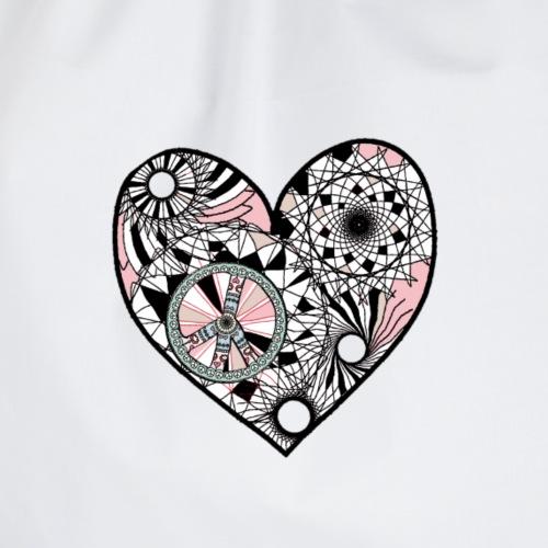 Herz liebt den Frieden - Turnbeutel