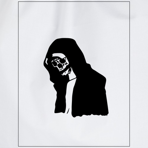 the sad skull - Drawstring Bag