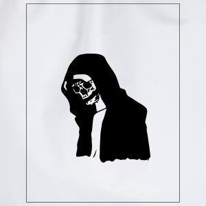 the sad skull - Drawstring Bag