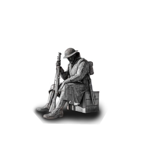 Statue of a war hero - Drawstring Bag