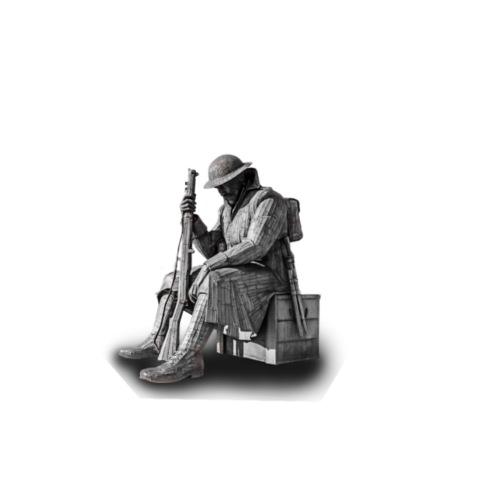 Statue of a war hero - Drawstring Bag