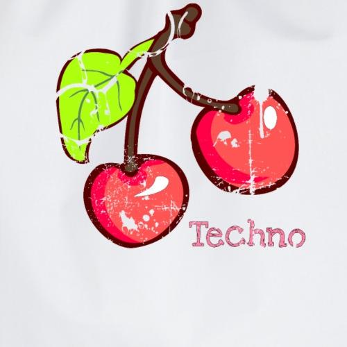 Techno Cherry EDM House and Trance Techno music - Drawstring Bag