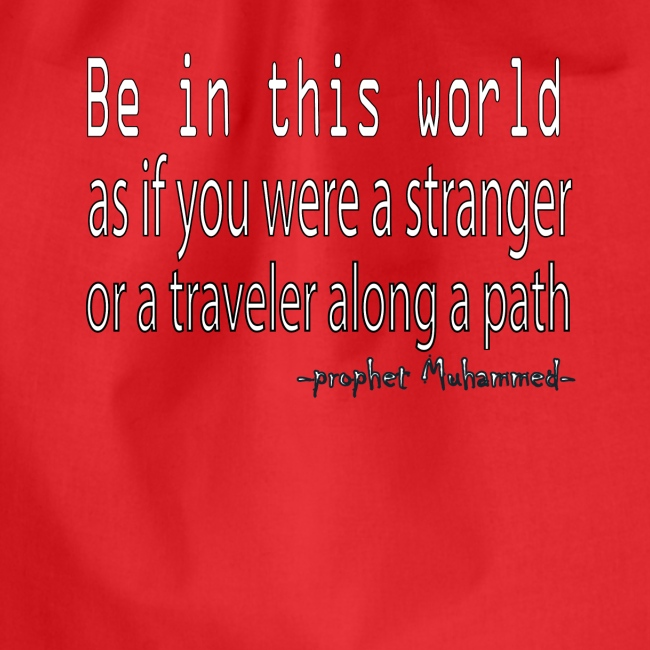 be in the world