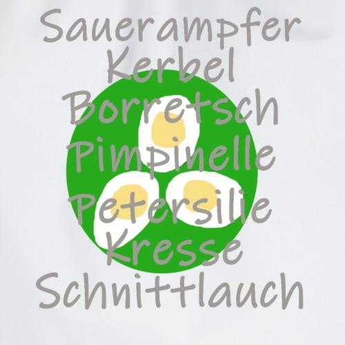 Grüne Soße Kräuterliste - Turnbeutel