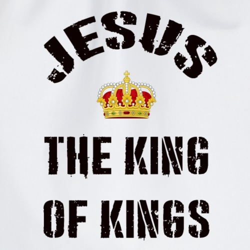 jesus the king of kings shirt - Drawstring Bag