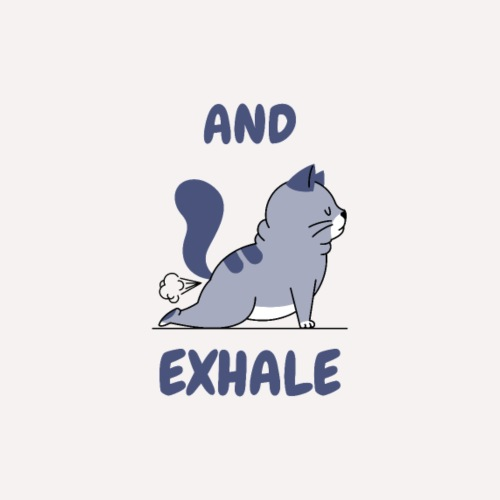 Yoga Exhale position - Drawstring Bag