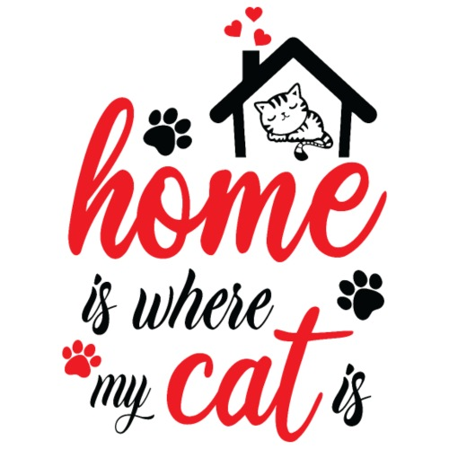 Home is where my cat is - Turnbeutel
