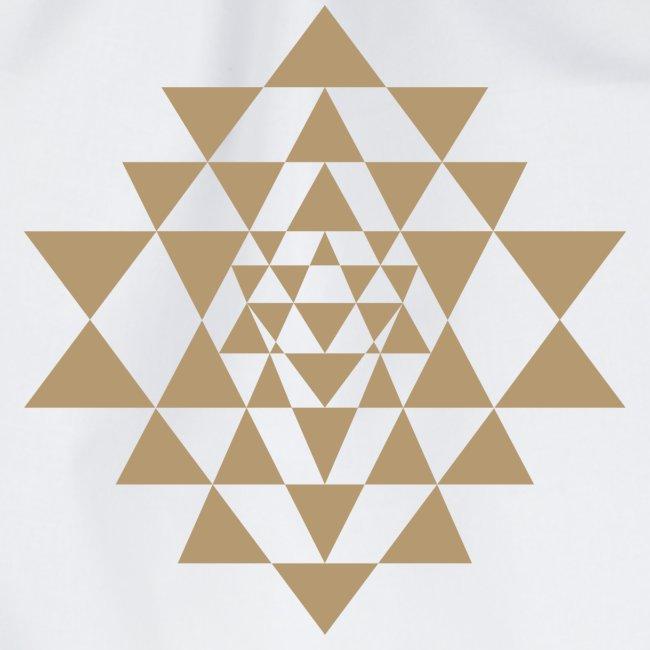 Ruskea Shri Yantra -kuvio
