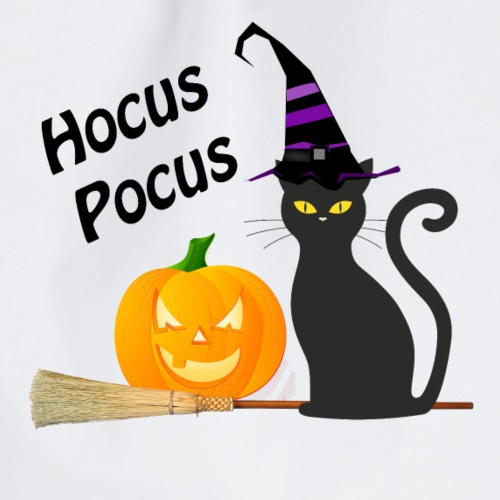 Svart katt och pumpa halloween - Gymnastikpåse