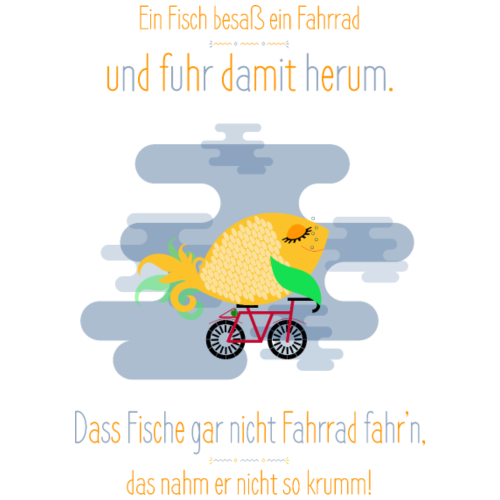 Der Fahrrad-Fisch - Turnbeutel