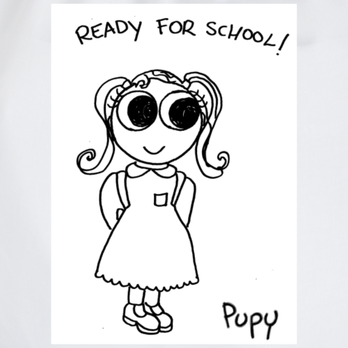 Pupy: ready for school! - girl - Sacca sportiva
