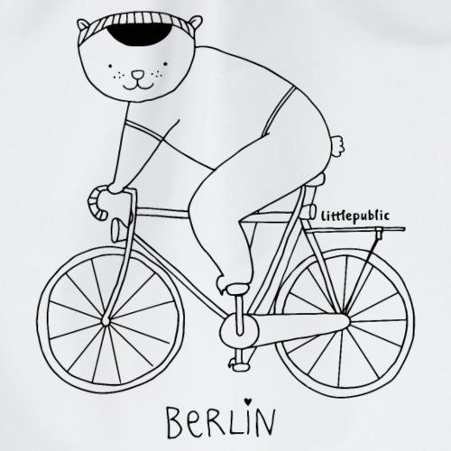 Berliner Bär auf dem Fahrrad   zum ausmalen - Turnbeutel