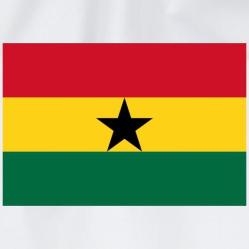 Ghana flag shirt - Drawstring Bag