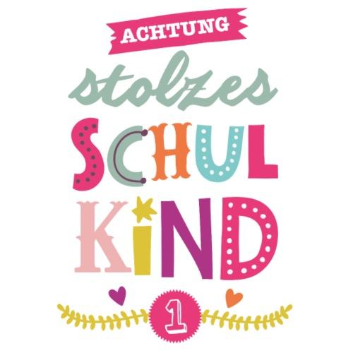 Stolzes Schulkind Maedchen - Turnbeutel
