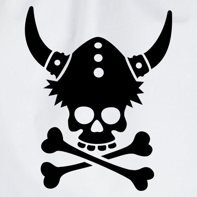 Totenkopf mit Wikingerhelm