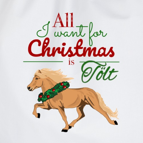 All I want for Christmas is Tölt - Isabell - Turnbeutel