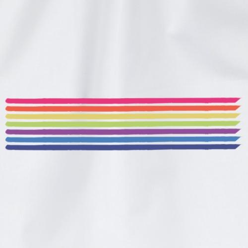 Farvede linjer horisont - Sportstaske