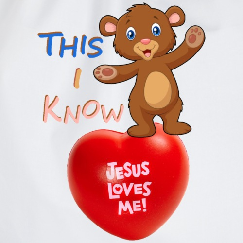 Jesus loves me - Drawstring Bag