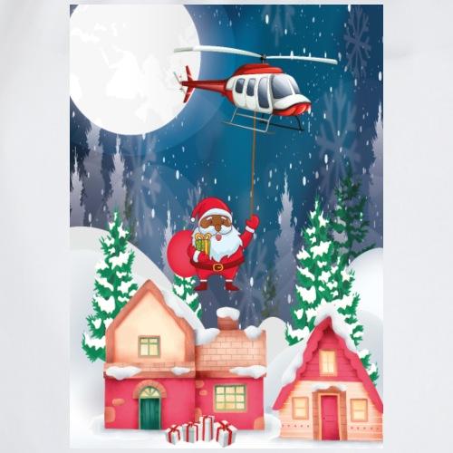 Black Santa kommt mit dem Hubschrauber - Turnbeutel