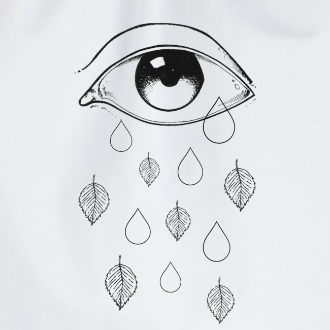 T-shirt teardrops yellow