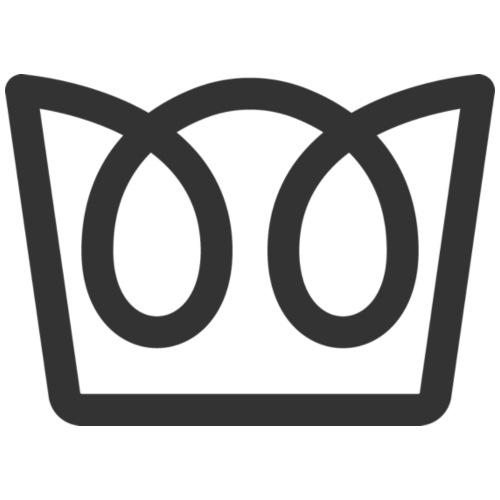 Crown - Gray - Drawstring Bag