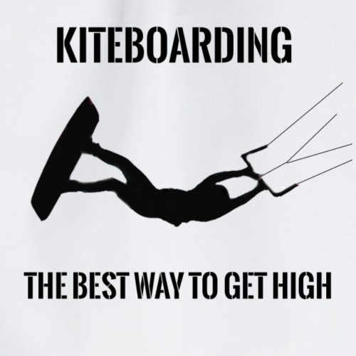 KITEBOARDING - The best way to get high - Drawstring Bag