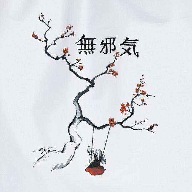 cerisier et sa balançoire