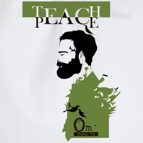 TEACH PEACE BIANCO - Sacca sportiva