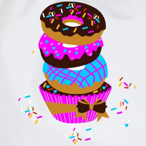 Chocolade donut met Sprinkles T-shirt voor dames, - Gymtas