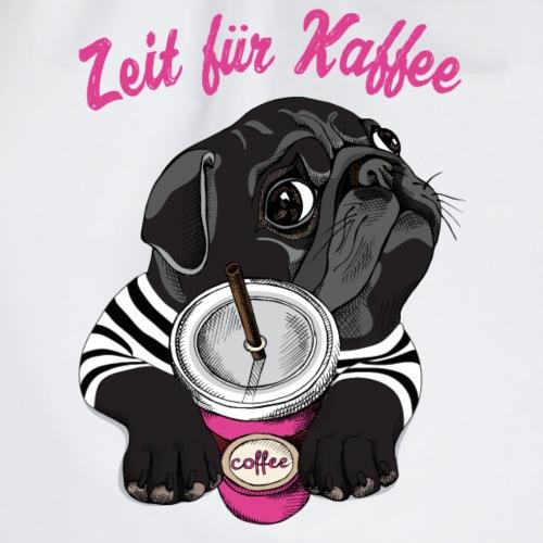 Zeit für Koffee und Mops - Turnbeutel