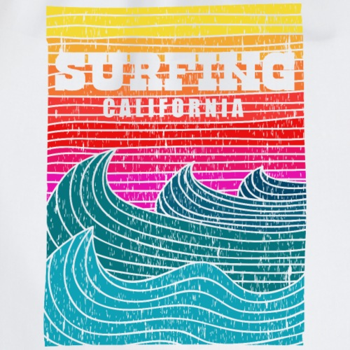 surfing retro california - Sac de sport léger