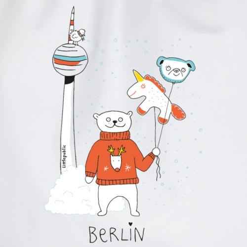 Berliner Bär   Winter am Fernsehturm  littlepublic - Turnbeutel