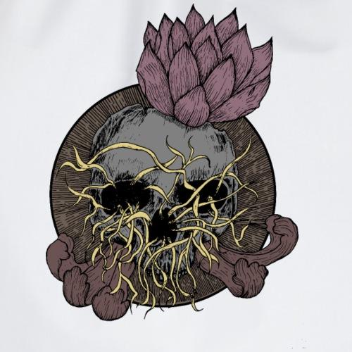 Skull tête de mort et fleur de lotus - Sac de sport léger