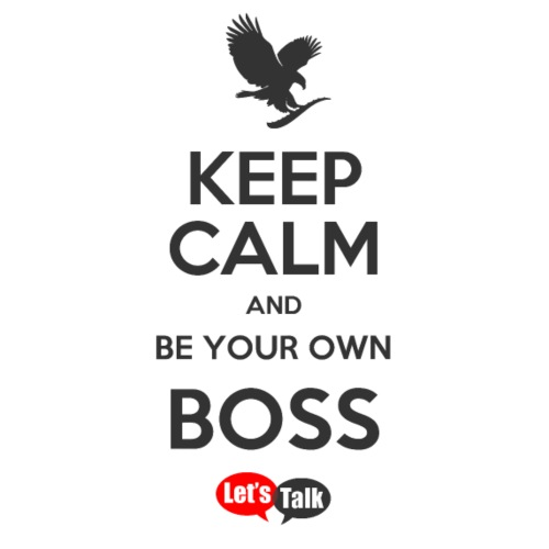 Own Boss Keep Calm dark letters - Turnbeutel
