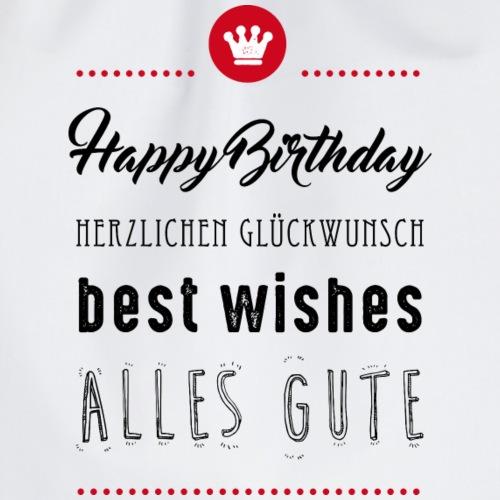 Happy birthday - Alles Gute - Turnbeutel
