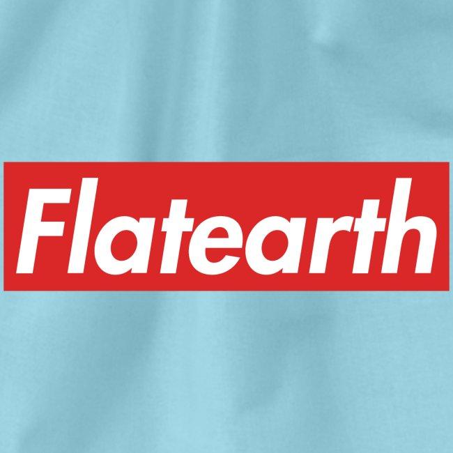 Red Flat Earth Box Logo