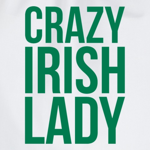 Crazy Irish Lady - Drawstring Bag