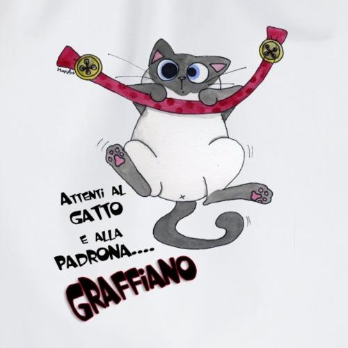 Attenti al gatto e alla padrona graffiano t-shirt - Sacca sportiva