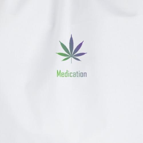 Medication Leaf - Drawstring Bag