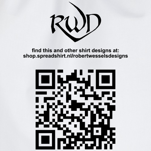 RWD logo met QR - Gymtas