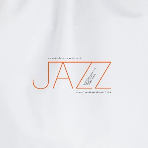 La Montaña Rusa Radio Jazz Modelo, blanco backgr - Mochila saco