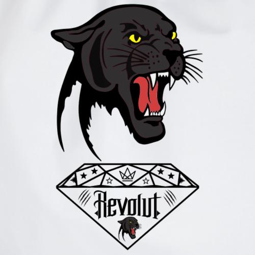 Revolut Logo mit Panther in Schwarz - Turnbeutel