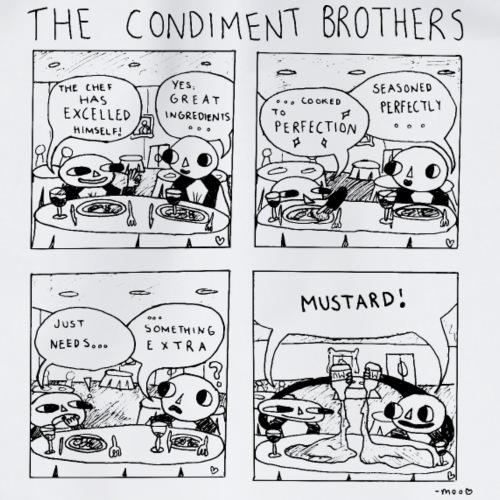 Condiment Brothers - Mustard - Black - Drawstring Bag