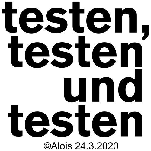 Testen in Zeiten der Krise!!! - Turnbeutel