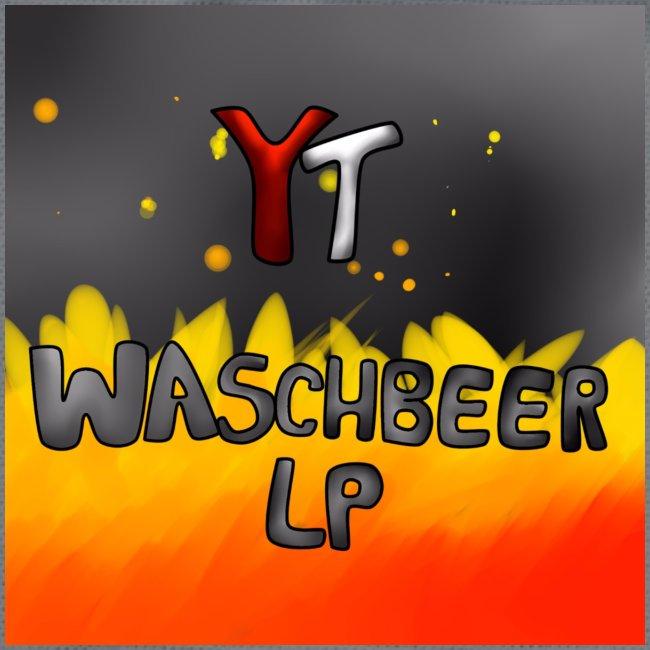 Waschbeer Design 2# Mit Flammen