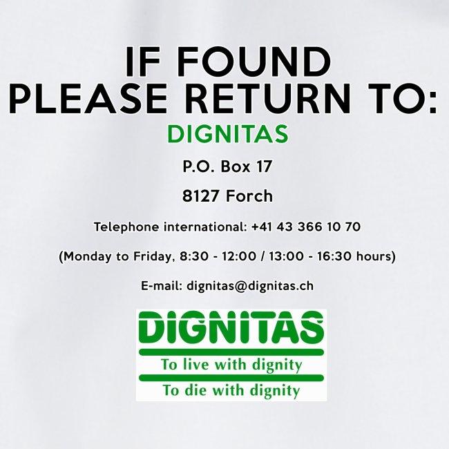 Dignitas - If found please return joke design
