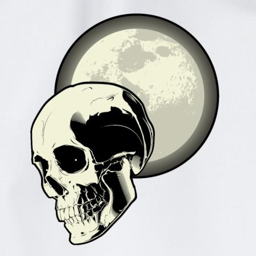 Mond Schädel Nacht Friedhof T-Shirt - Turnbeutel