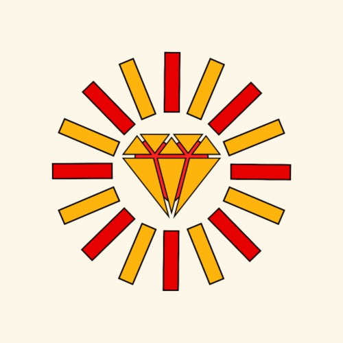 Heart & Diamond (Sun) - Mochila saco